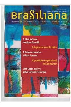 Livro Revista Brasiliana - N° 11 - Ano 2002 Autor Academia Brasileira de Música [usado]