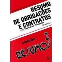 Livro Resumos de Obrigações e Contratos - 25ª Ed. Autor Maximilianus Cláudio Américo Führer (2005) [usado]