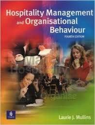 Livro Hospitality Management And Organisation Behaviour Autor Laurie J. Mullins (2001) [usado]