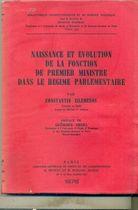 Livro Naissance Et Évolution de La Fonction de Premier Ministre... Autor Constantin Zilemenos (1976) [usado]