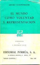 Livro El Mundo Como Voluntad Y Representacion Autor Arturo ( Arthur ) Schopenhauer (1987) [usado]