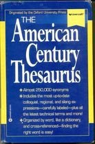 Livro The American Century Thesaurus Autor Laurence Urdang (1996) [usado]