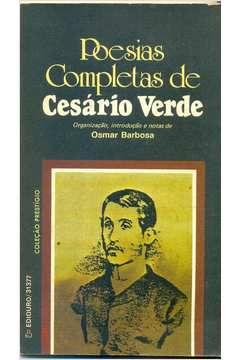 Livro Poesias Completas de Cesário Verde Autor Cesário Verde, Osmar Barbosa (1987) [usado]