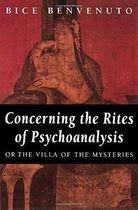 Livro Concerning The Rites Of Psychoanalysis Autor Bice Benvenuto (1994) [usado]