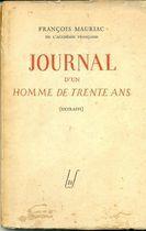 Livro Journal Dun Homme de Trente Ans ( Extraits) Autor François Mauriac (1948) [usado]