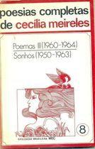 Livro Poesias Completas de Cecília Meireles: Poemas Iii (1960... Autor Cecília Meireles (1974) [usado]