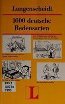 Livro 1000 Deutsche Redensarten Autor Dr. Heinz Griesbach, Dra. Dora Schulz (1994) [usado]