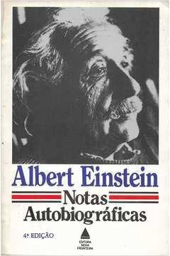 Livro Notas Autobiográficas Autor Albert Einstein (1982) [usado]