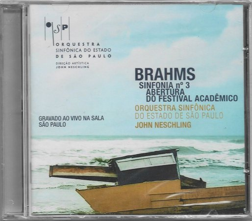Brahms -  Sinfonia N.3 - Abertura Do Festival Academico - OSESP - Neschling - NOVO