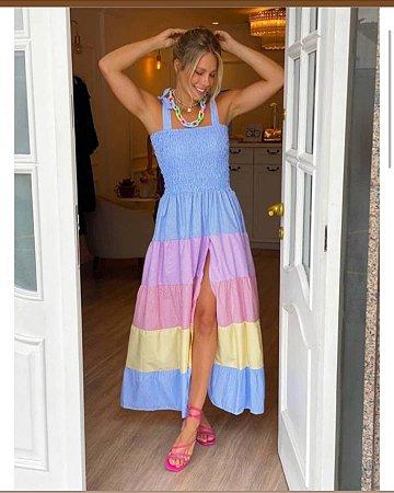 Vestido Tricoline Colors