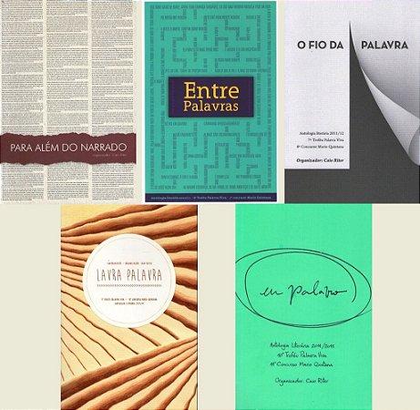 Conjunto com 5 livros do Concurso Literário Mário Quintana