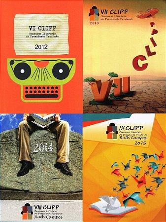 Conjunto com 4 livros do Concurso Literário de Presidente Prudente - CLIPP