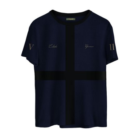 Camiseta Masculina Valparroci Céu Noturno 'Celeste 17' Azul