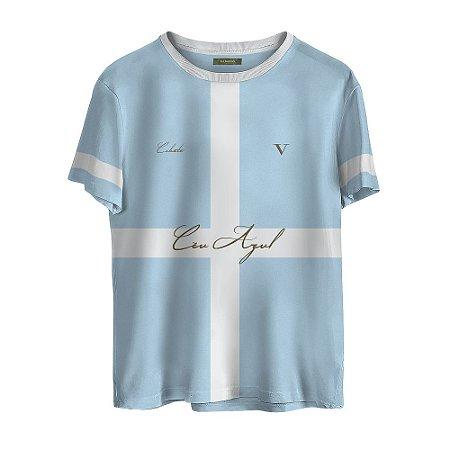 Camiseta Masculina Valparroci Céu Azul 'Celeste 17' Azul