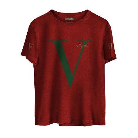 Camiseta Masculina Valparroci V 'Majestade 17' Vermelha