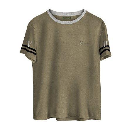 Camiseta Masculina Valparroci 'Majestade 17' Marrom