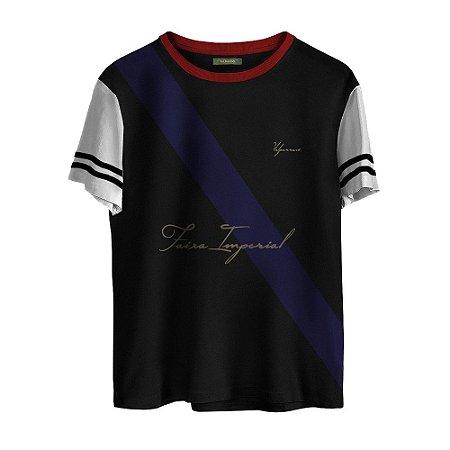 Camiseta Masculina Valparroci Faixa Imperial 'Majestade 17' Preta