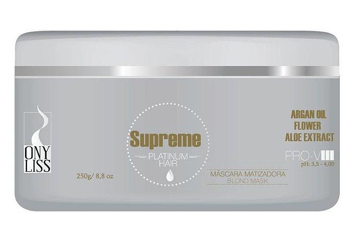 Máscara Matizadora Supreme Platinum Hair OnyLiss 250 g