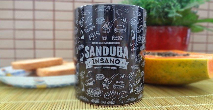Caneca de Porcelana Sanduba Insano - cor preta
