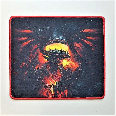 Mouse Pad Gamer Estampa Dragão 29cmx25cm Notebook E Pc