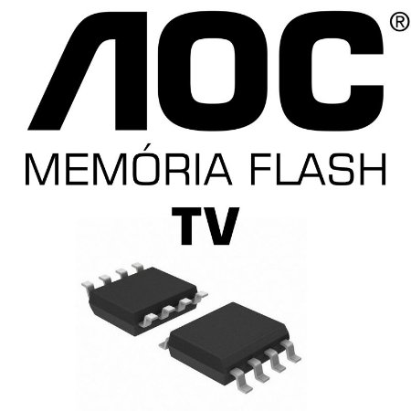 Memoria Flash Tv Aoc Le19w037 Chip Gravado