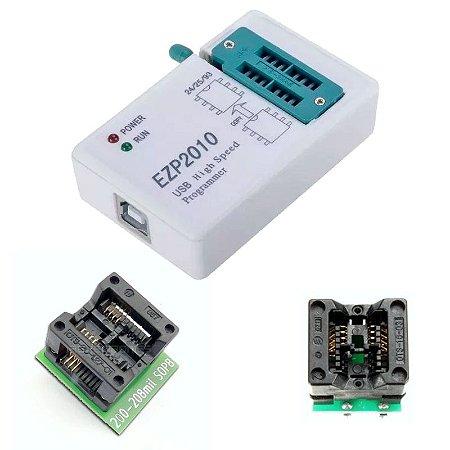 Gravador Bios Eprom Memoria Flash Ezp2010 + Socket 150mil + 200mil