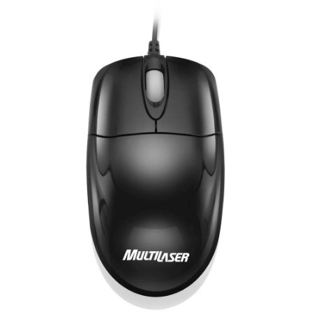 Mouse Usb Black Piano Mo139 - Multilaser