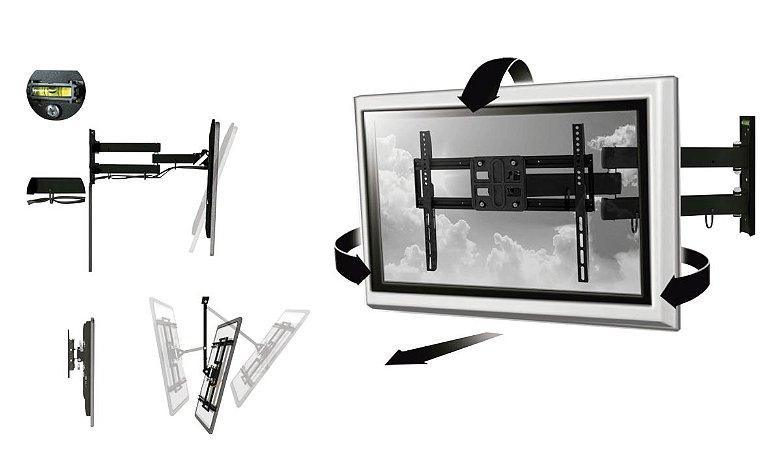 Suporte Inclinável Full Motion Universal para TV LCD/LED/Pl