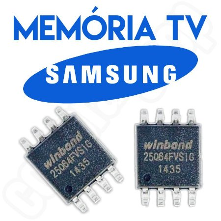 Memoria Flash Tv Samsung Un48ju6000g Ic1304_spi Chip Gravado