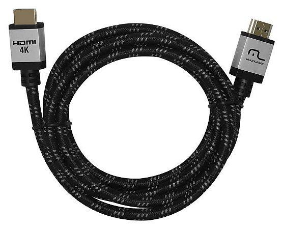 Cabo Nylon 3M HDMI 2.0 4K Multilaser - WI296