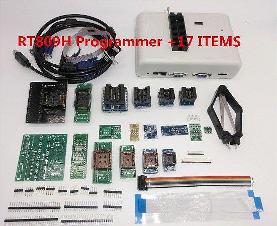 Gravador Memória Nand Flash Eprom Bios Rt809h com 17x Itens