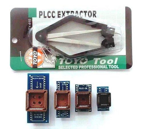 Adaptador Plcc E Extrator Ci Bios Antiga 44 32 28 11