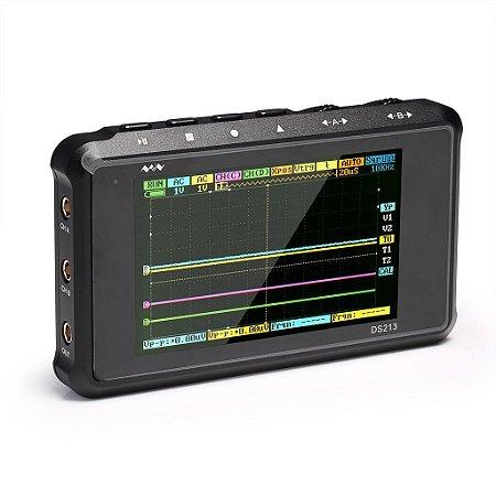 Osciloscópio Digital Portátil Profissional Dso213 Mede Formas de Onda Pwm Mos-fet