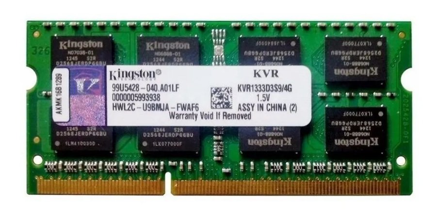 Memória Ram 4gb Ddr3 Pc-10600 1333mhz 1.5v Kingston Notebook