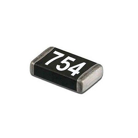 Resistor 750k Ohms 0.5w Smd Kit 10x Unidades