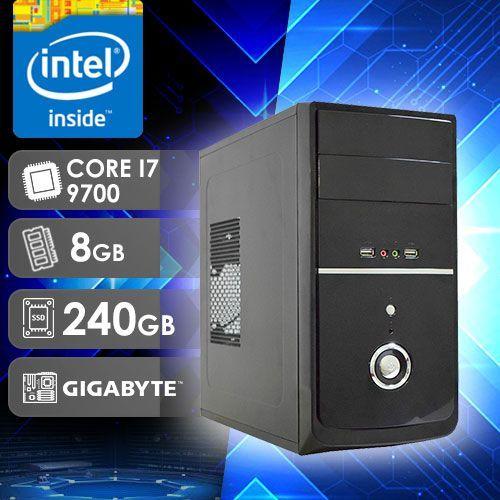 PC DESKTOP 282G INTEL CORE I7 9700 9ª GERAÇÃO 8GB RAM SSD 256GB