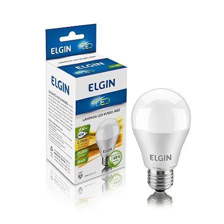 Lâmpada LED Bulbo Elgin E27 6W A60 Branco Morno 2700K Bi