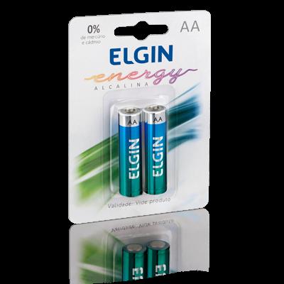 Pilha AA Alcalina Elgin LR6A 1,5V Blister com 2 un. - 82152