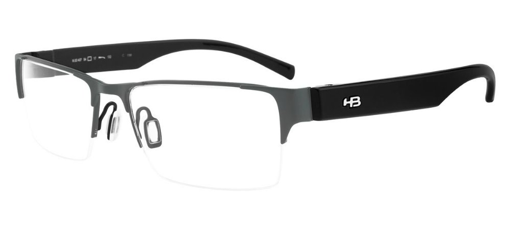 b56279ad5 HB DUOTECH 93407 NICKEL /MATTE BLACK - Optica da Visão