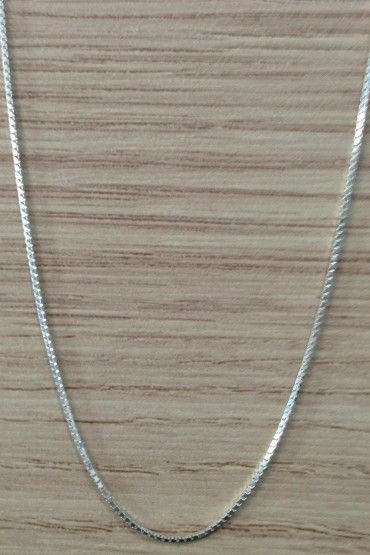 Corrente Veneziana Finissima 60cm - Prata de Lei 925