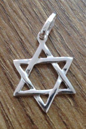 Pingente Estrela de Davi - Prata de Lei 925