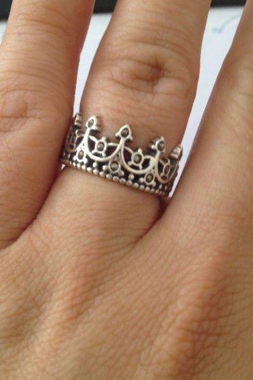 Anel Coroa Rei - Prata de Lei 925