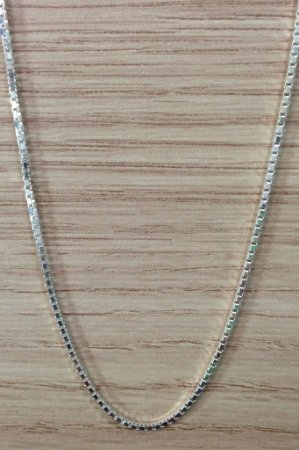 Corrente Veneziana 40cm - Prata de Lei 925