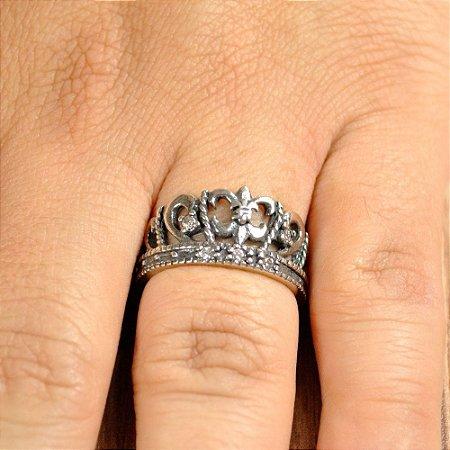 Coroa Flor de Liz - Prata de Lei 925