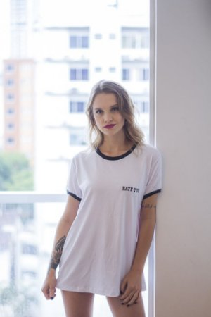Camiseta Feminina Hate You Branca