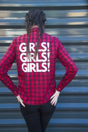Camisa Xadrez Grunge 90´S Girls Vermelha