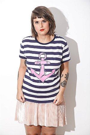 Camiseta Feminina Captain Rosa