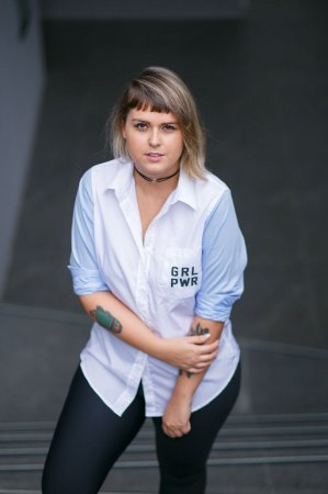 Camisa Feminina GRL PWR Azul