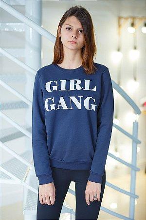 Moletom Girl Gang Marinho
