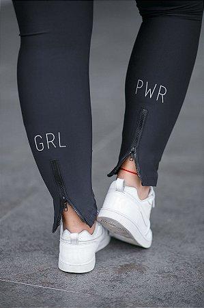 Calça Legging  Zíper Girl Power